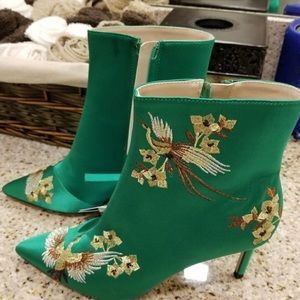 Zara Green Booties
